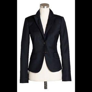 J Crew Super 120's wool pinstriped blazer